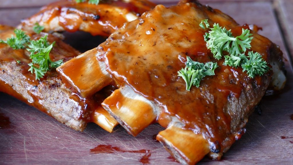 meat, ribs, eat
